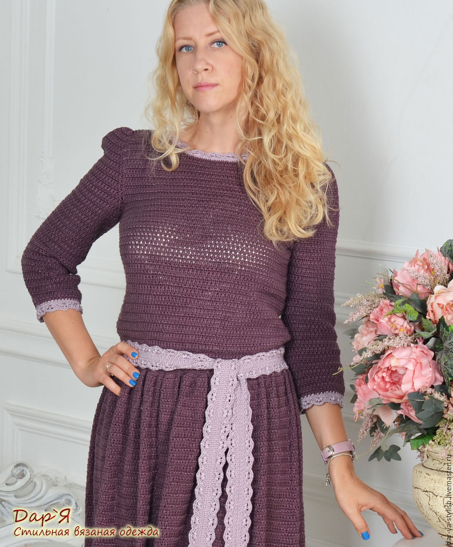 Вязание платье из шелка