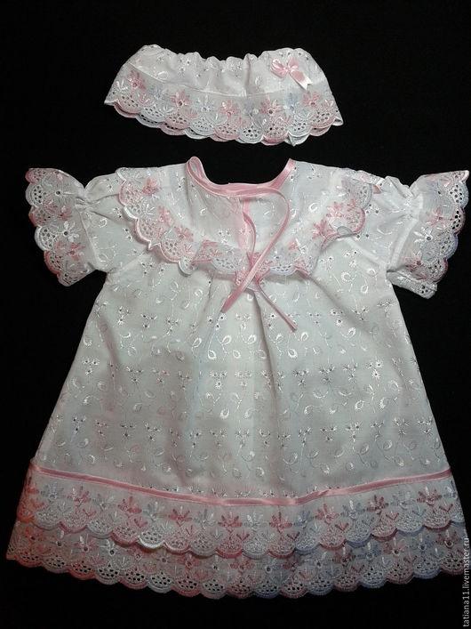 Крестильные принадлежности ручной работы. Ярмарка Мастеров - ручная работа. Купить Крестильное платье (на 0.5-1.5 года). Handmade.