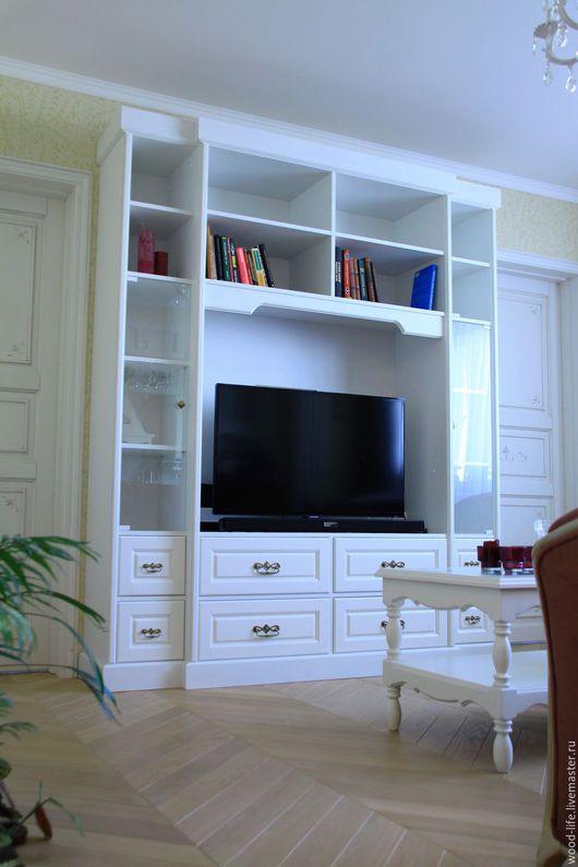 Мебель ручной работы. Ярмарка Мастеров - ручная работа. Купить Шкаф под ТВ - Blanc Provence. Handmade. Тв шкаф