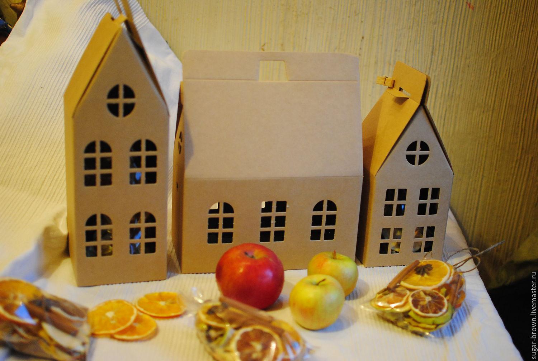 Домик из картона для подарка