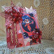 Открытки ручной работы. Ярмарка Мастеров - ручная работа Открытка на день рождения,  открытка для девочки с Леди Баг. Handmade.