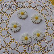 Цветы искусственные ручной работы. Ярмарка Мастеров - ручная работа Ромашка - кабошон. Handmade.