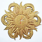 Часы ручной работы. Ярмарка Мастеров - ручная работа Часы Солнце. Handmade.