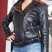 Одежда ручной работы. Ярмарка Мастеров - ручная работа Куртка косуха женская из кожи питона. Handmade.