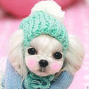Для домашних животных, ручной работы. Ярмарка Мастеров - ручная работа Шапочка для маленькой собачки. Handmade.