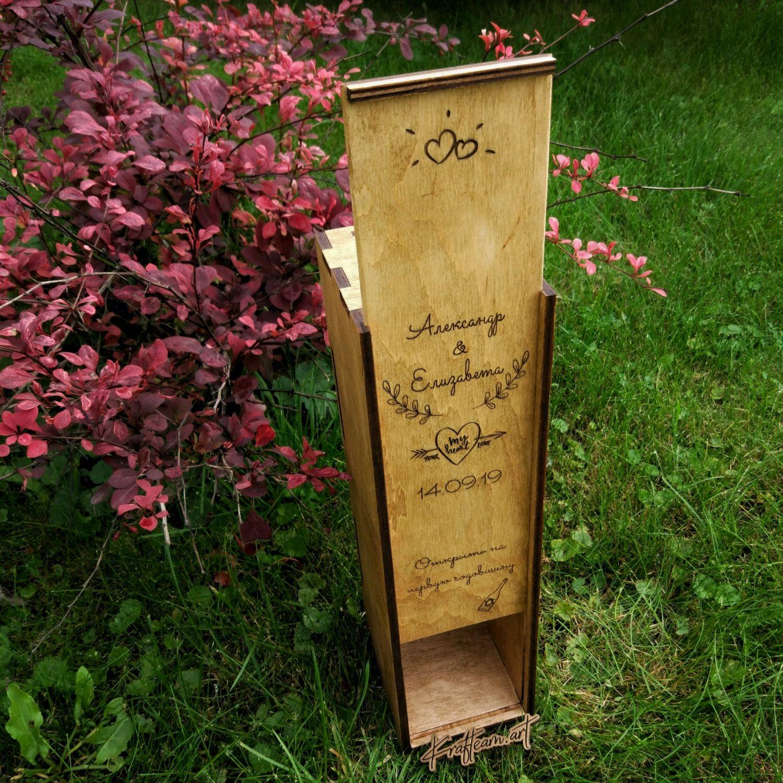 """Ящик  """"винная церемония"""" (коробка, упаковка для вина), Аксессуары, Смоленск, Фото №1"""