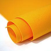 Материалы для творчества ручной работы. Ярмарка Мастеров - ручная работа Фетр под термотрансфер оранжевый 1,0 мм. Handmade.