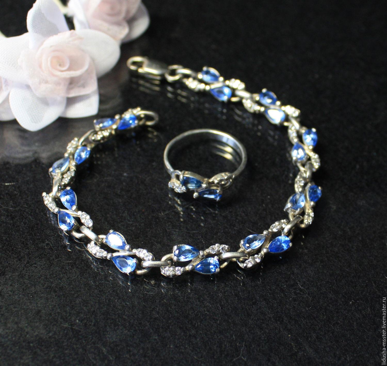 bracelet Cornflowers, Bead bracelet, Nizhny Novgorod,  Фото №1