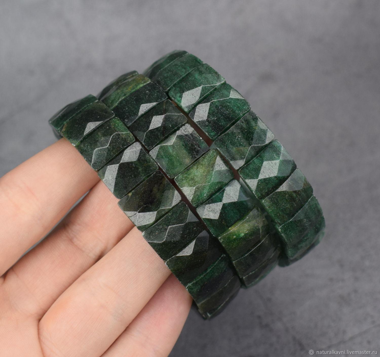 Bracelet natural stone verdite (African jade), Bead bracelet, Moscow,  Фото №1