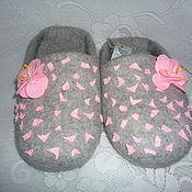 """Обувь ручной работы. Ярмарка Мастеров - ручная работа Тапочки валяные  """"Тёплое счастье"""". Handmade."""