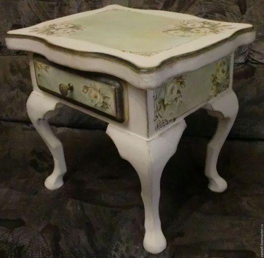 """Мебель ручной работы. Ярмарка Мастеров - ручная работа. Купить """"Ирэн"""" столик прикроватный. Handmade. Бежевый, нежность, мебель из массива"""