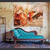"""Картины и панно ручной работы. Ярмарка Мастеров - ручная работа Картина """"Каменный цветок""""- масло, акрил, холст. Handmade."""