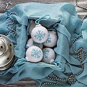 Подарки к праздникам ручной работы. Ярмарка Мастеров - ручная работа Новогодние шары набор 6 штук. Handmade.