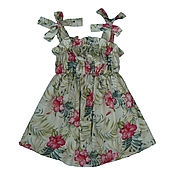 Работы для детей, handmade. Livemaster - original item Linen sundress. Handmade.