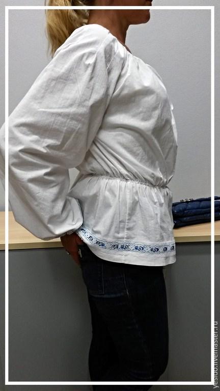 Блузки ручной работы. Ярмарка Мастеров - ручная работа. Купить Блузка льняная. Handmade. Белый, блузка, летняя одежда