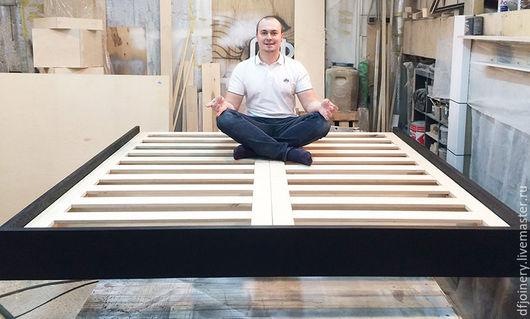 Мебель ручной работы. Ярмарка Мастеров - ручная работа. Купить Кровать «Летающая» №2 из дерева. Handmade. Кровать, массив дуба