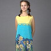 Одежда ручной работы. Ярмарка Мастеров - ручная работа (40-42 р) Платье с нарциссами. Handmade.