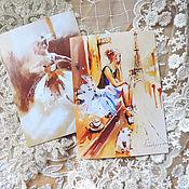 Открытки ручной работы. Ярмарка Мастеров - ручная работа Набор открыток: Балет. Handmade.