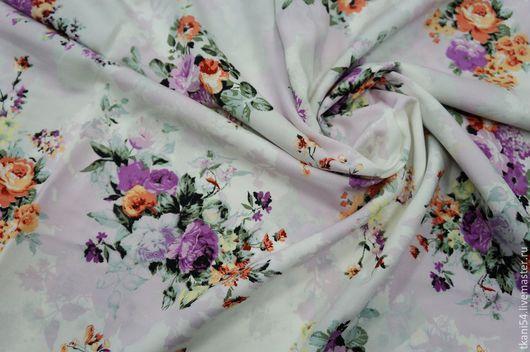 Шитье ручной работы. Ярмарка Мастеров - ручная работа. Купить Ткань плат. штапель 1531D/3. 150 см, молочный. Handmade.