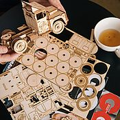 handmade. Livemaster - original item 3D puzzle constructor Truck Fox. Handmade.