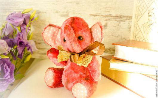 Мишки Тедди ручной работы. Ярмарка Мастеров - ручная работа. Купить слоник тедди Дамбо- ушастик ! Ручной работы. Handmade.