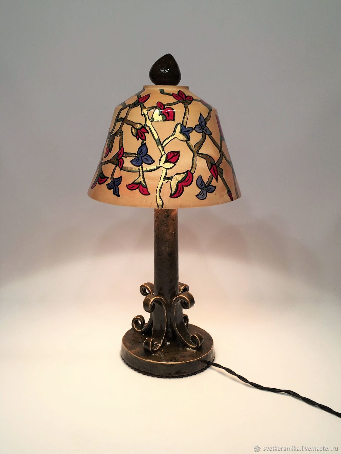 Table lamp made of wood, ceramics and copper painted, Table lamps, Moscow,  Фото №1