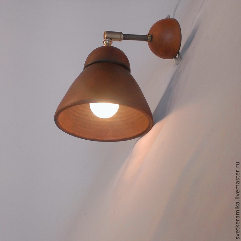 Ceramic wall lamp (sconce) 'Bell', Sconce, Moscow,  Фото №1
