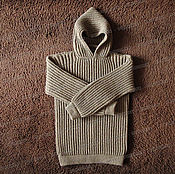 Одежда handmade. Livemaster - original item Sweater fleece hooded, brown (No. №8). Handmade.