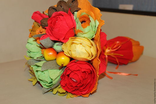 """Букеты ручной работы. Ярмарка Мастеров - ручная работа. Купить Букет из конфет """"Осень"""". Handmade. Оранжевый, букет из конфет москва"""