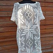 Одежда handmade. Livemaster - original item summer tunic crochet Marina. Handmade.