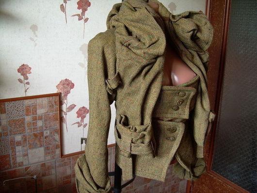"""Верхняя одежда ручной работы. Ярмарка Мастеров - ручная работа. Купить Куртка-жакет из твида """"Вивьен Вествуд"""". Handmade. Хаки"""