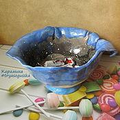 Конфетницы ручной работы. Ярмарка Мастеров - ручная работа Конфетница керамическая ручной лепки Космос. Handmade.
