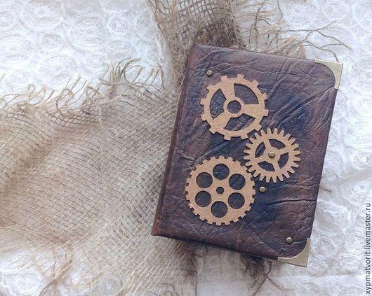 Блокноты ручной работы. Ярмарка Мастеров - ручная работа. Купить Стимпанк блокнот. Handmade. Коричневый, бронзовый, винтаж, мужской