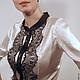 """Блузки ручной работы. Ярмарка Мастеров - ручная работа. Купить Блуза """"Инь"""". Handmade. Чёрно-белый, блузка из шелка"""
