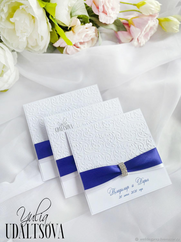 Приглашения на свадьбу в синем цвете, Приглашения, Санкт-Петербург,  Фото №1