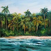 Картины и панно handmade. Livemaster - original item Oil Painting Jungle Seascape. Handmade.