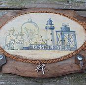 Для дома и интерьера ручной работы. Ярмарка Мастеров - ручная работа ключница вешалка ключи от моря. Handmade.