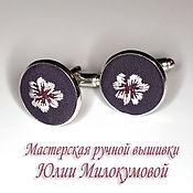Украшения handmade. Livemaster - original item Embroidered cufflinks Lady Nimueh. Handmade.