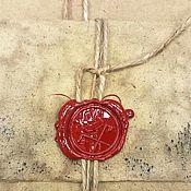 """Канцелярские товары ручной работы. Ярмарка Мастеров - ручная работа """"Табак и Виски"""" конверт под старину. Handmade."""