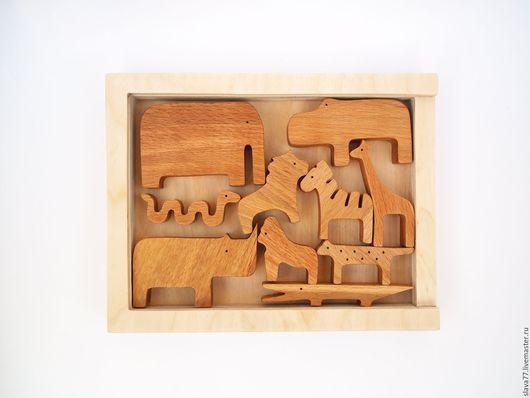 Развивающие игрушки ручной работы. Ярмарка Мастеров - ручная работа. Купить Набор животных(балансир) из дерева в именной коробке-1. Handmade.