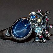 """Украшения ручной работы. Ярмарка Мастеров - ручная работа """"Ирреальность"""" - кольцо со звёздчатым сапфиром. Handmade."""