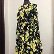 """Одежда ручной работы. Ярмарка Мастеров - ручная работа Платье """"Желтые розы"""". Handmade."""