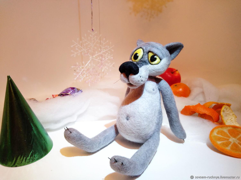 Игрушка из шерсти - волк  из м/ф Жил-был пес, Войлочная игрушка, Великие Луки,  Фото №1