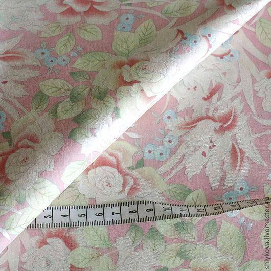 Шитье ручной работы. Ярмарка Мастеров - ручная работа. Купить Ткань для пэчворка. Handmade. Бледно-розовый, ткани, ткань для рукоделия
