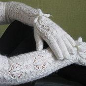 Аксессуары handmade. Livemaster - original item Gloves extra long icicle. Handmade.