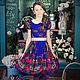 """Одежда для девочек, ручной работы. Ярмарка Мастеров - ручная работа. Купить Платье в народном стиле для девочки """"Павлина"""". Handmade."""