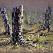 Картины и панно handmade. Livemaster - original item Pastel painting on paper IN a CLEARING. Handmade.
