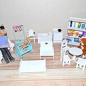 Куклы и игрушки handmade. Livemaster - original item Furniture for Barbie dolls, Pukifee, Lati yellow, BJD 1:8. Handmade.