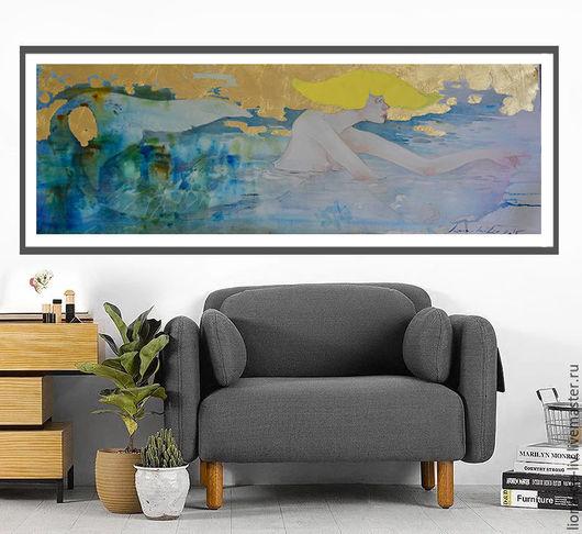 Акварель, картина , живопись ню, большая кртина