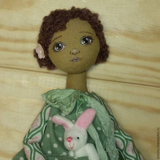 Куклы тыквоголовки ручной работы. Ярмарка Мастеров - ручная работа. Купить Мулатка. Handmade. Подарок девушке, кукла текстильная, тыквоголовка